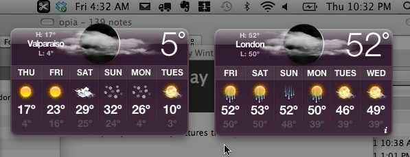 Chicago london temps