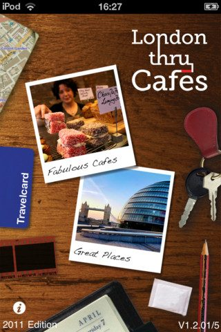Cool iPhone App Alert: London Thru Cafes – Review