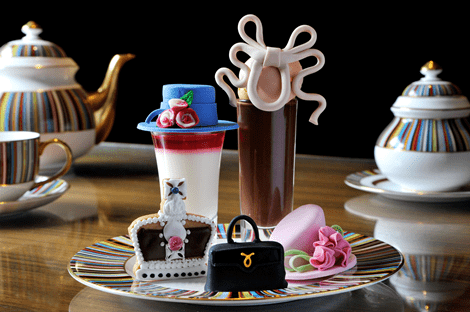 Afternoon tea with royal hats – Luxury Afternoon Tea at The Berkeley for the Diamond Jubilee
