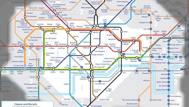 London Tube Map Based on Food