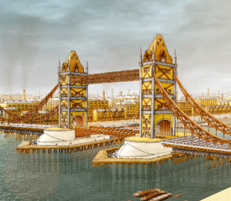 Video: Building Tower Bridge