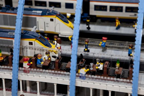 British Man Builds Massive Model of St Pancras International in Lego