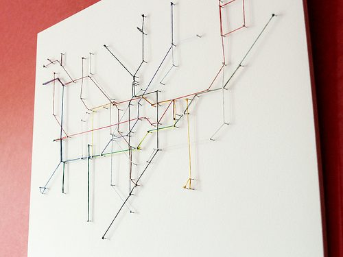 Fun Project: Make Your Own Tube Map out of String