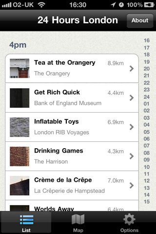 iPhone App: 24 Hours in London The App