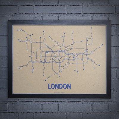 Minimalist London Tube Network Map