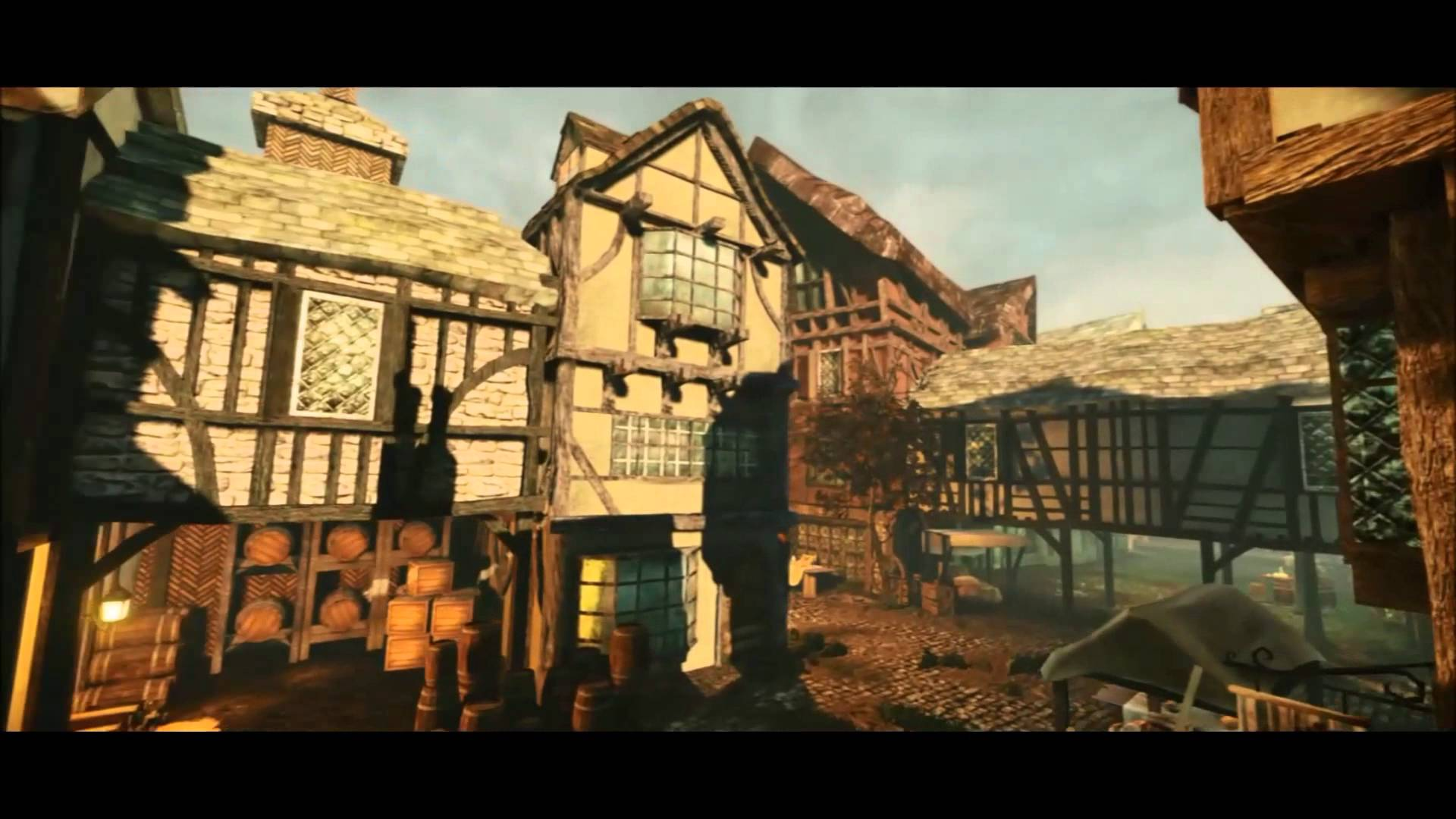 Video Fly Through Pre Fire 17th Century London