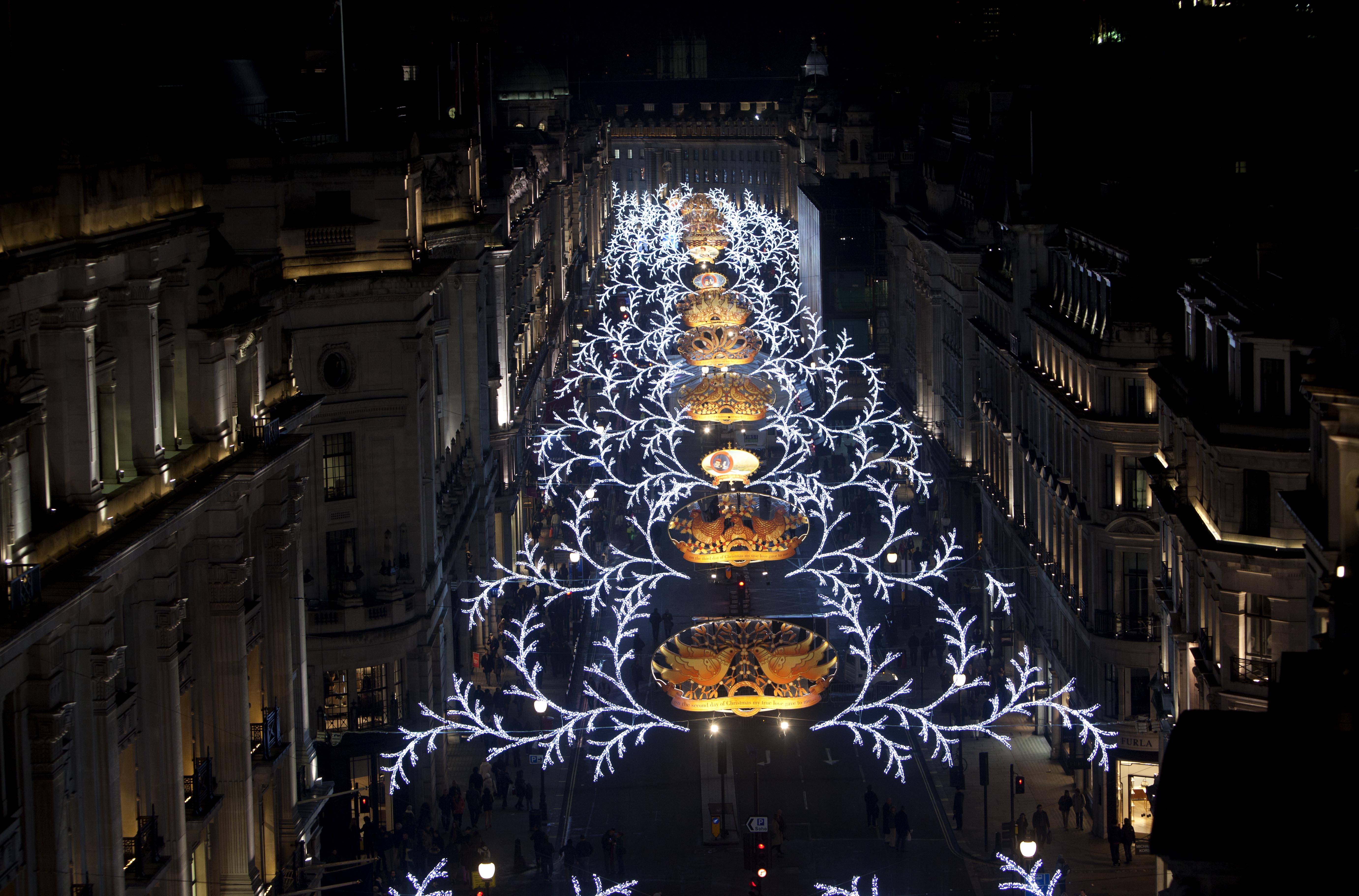 Christmas 2013: Regent's Street Christmas Lights Switched On