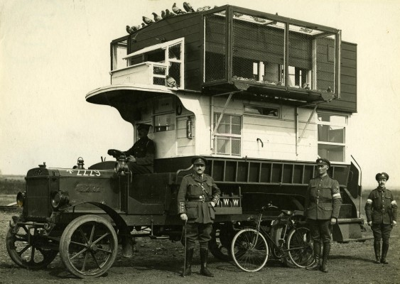 1999-20005 LGOC B-type bus (B2132) converted into  a pigeon loft (for carrier pigeons)  during the First World War.
