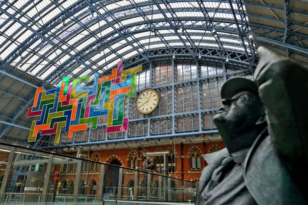 London Art: St Pancras Station Decided To Play a Giant Game of Tetris in Beautiful New Art Installation and It's Amazing