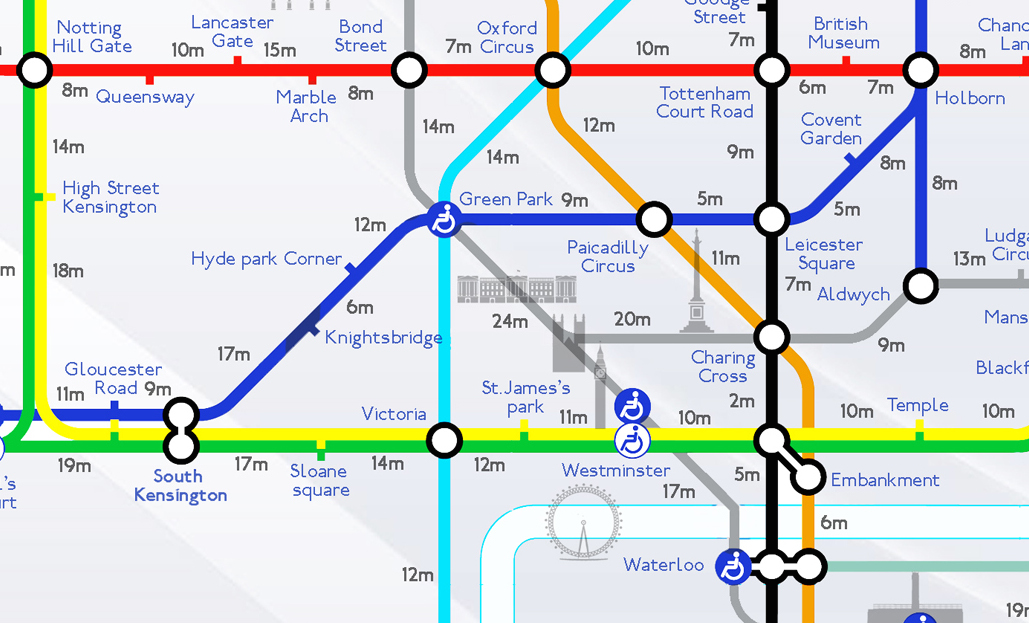 the tube introducing the walking distance tube map how long
