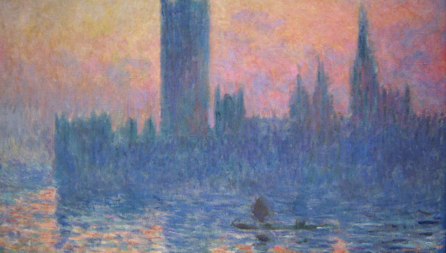 Great London Art: The Houses of Parliament at Sunset in 1903 by Claude Monet