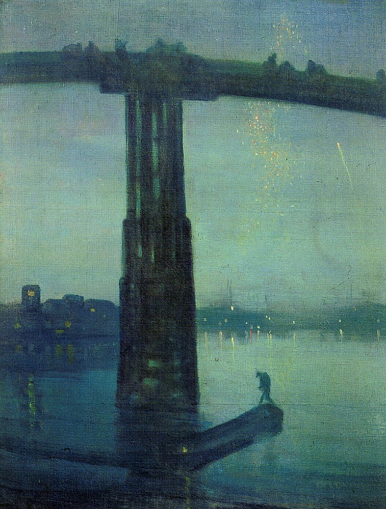 Great London Art: Nocturne: Blue and Gold – Old Battersea Bridge by James Whistler