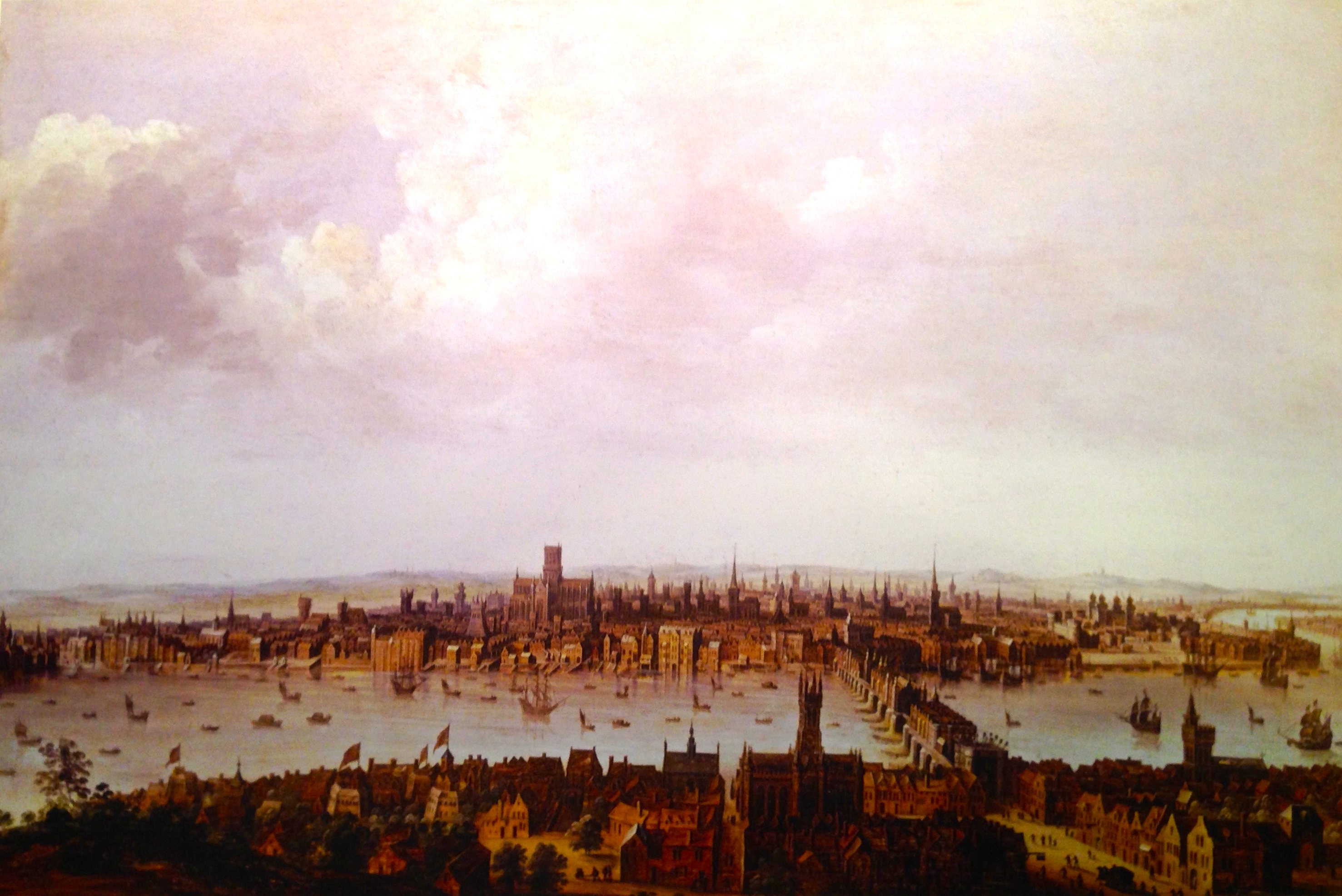 Great London Art: Ever Wonder What London Looked Like Before the Great Fire? Then Check out this VIew of London from Southwark Before the Great Fire of London of 1666