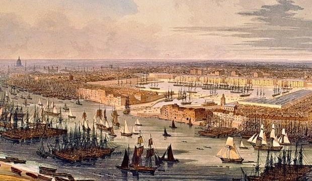 Great London Art: London's Docklands at Wapping, Late Eighteenth Century – 1803