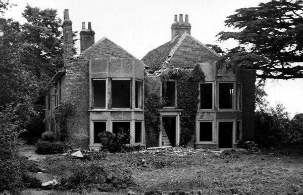 Demolition of Heathrow Hall, 1944