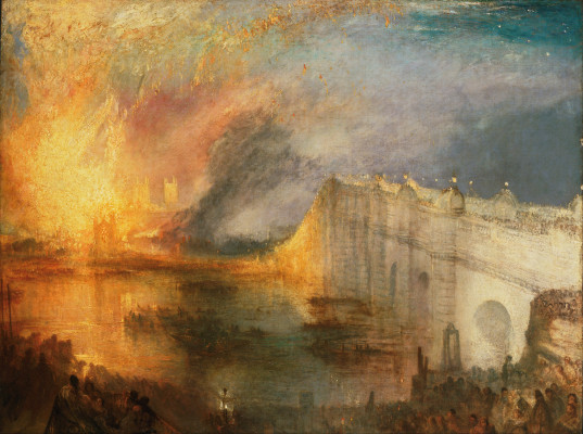 Great London Art: The Burning of the Houses of Lords and Commons by Joseph Mallord William Turner