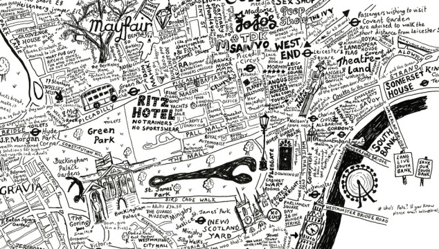 London Maps: Check Out This Beautiful Hand Drawn Map of the City of Westminter