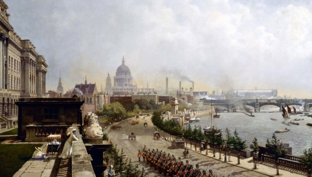 Great London Art: The Embankment by John O'Connor 1874