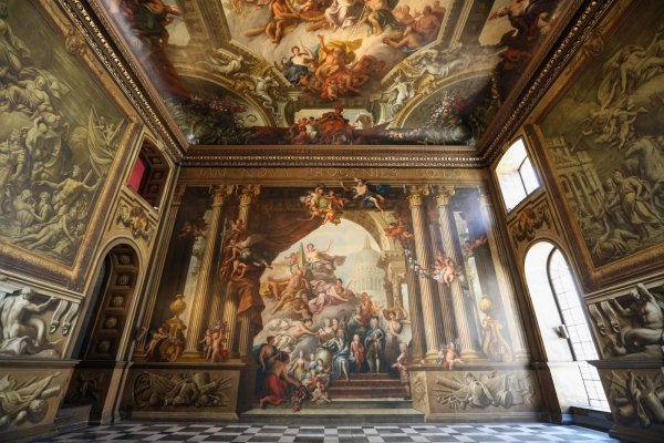 Great London Art: The Painted Hall at the Royal Naval College in Greenwich
