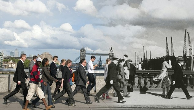 London Bridges Then and Now – Amazing New Hybrid Images Released Show London's Present and Past Together