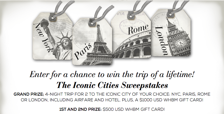 London Alert: Win a Trip to London, Paris, Rome or New York – USA and Canada Entries Only