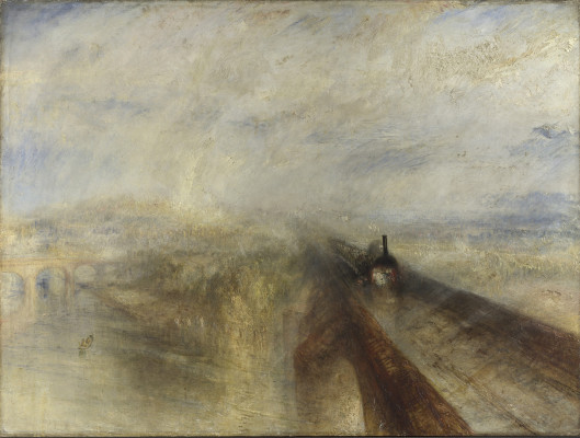 J.M.W. Turner, Rain, Steam, and Speed – The Great Western Railway 1844  Copyright The National Gallery, London