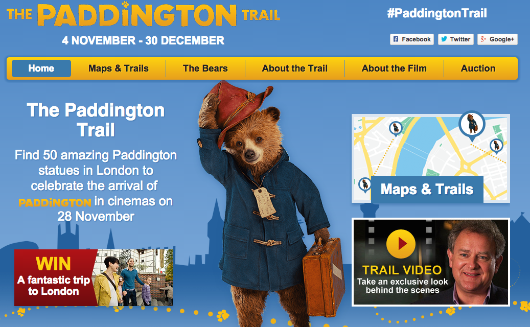 London Alert: Win a Paddington Bear Themed Trip to London For the Whole Family – GLOBAL CONTEST