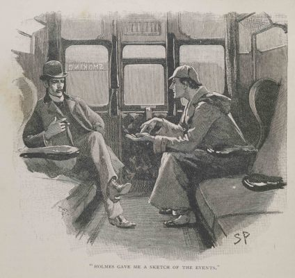 "Sidney Paget, Dec 1892, engraving, Strand magazine Vol iv.1892. Page page 646. illustration The Adventure of the Silver Blaze- ""Holmes gave me a sketch of the events"" Alex Werner Private Collection. © Museum of London"