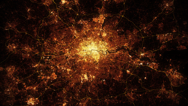 Above London: Stunning Artwork Recreates London at Night From Space – Check Out the Full Sized Version