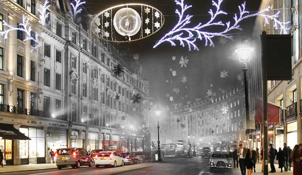 Christmas in London: Check out These Magical Images that Show Modern London Superimposed with London's Christmas Past