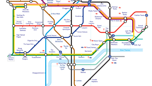 London Humour: The Honest Tube Map