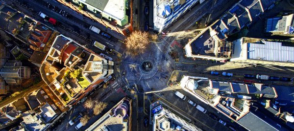 London Photo: Stunning Photo of Seven Dials in London from Above by Stuck in Customs