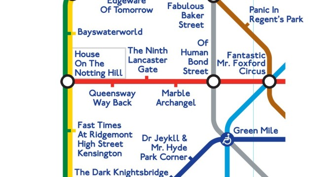 London on Film: The Movie Pun London Tube Map