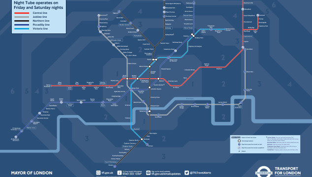 Night Tube: Transport for London Reveals New Night Tube Map for the Upcoming 24 Hour Tube