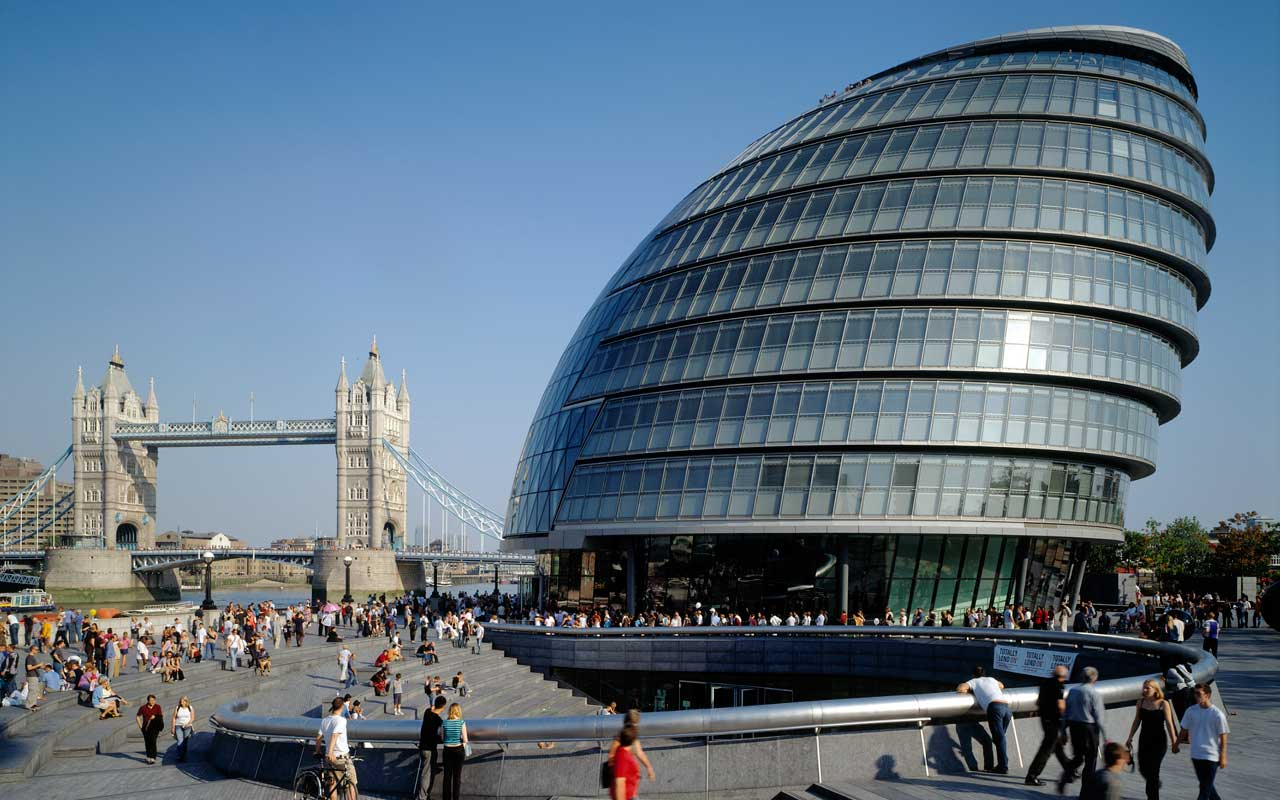 Ten interesting facts and figures about london 39 s city hall for Norman foster strutture