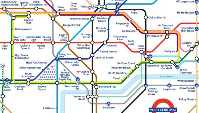 Happy Christmas: The Christmas Tube Map
