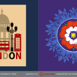 Anglotees Alert: New Designs LIVE – English Rose and Retro London