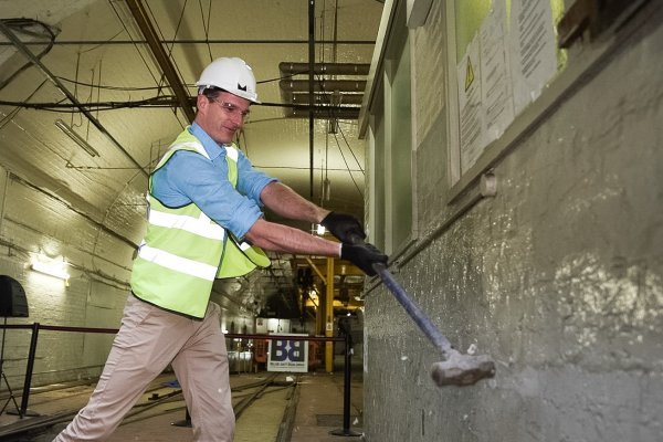 Historian Dan Snow Breaks Ground at the launch of contruction work at The Postal Museum