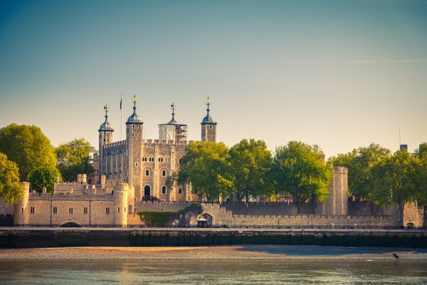 View on Tower of London from Thames