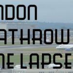 London Heathrow Airport Consecutive Departures Timelapse Video