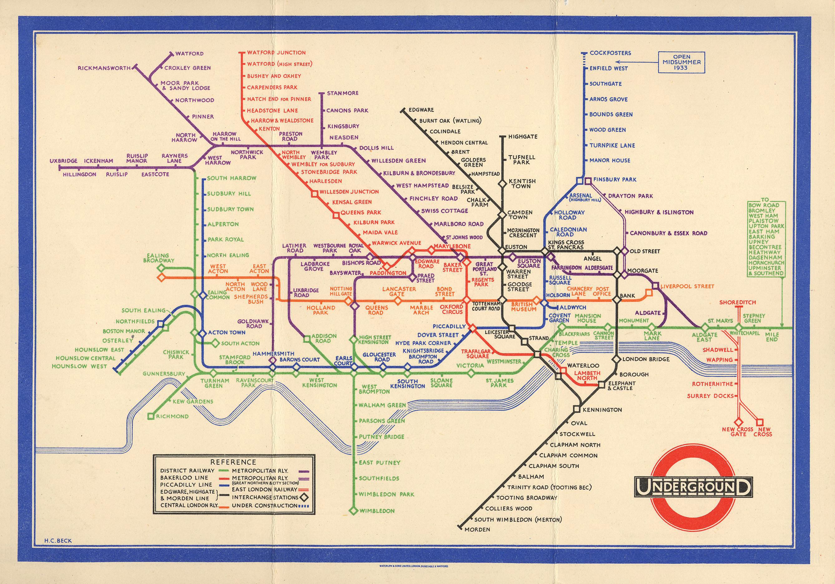 London Icon A History of Harry Becks Iconic Tube Map Londontopia