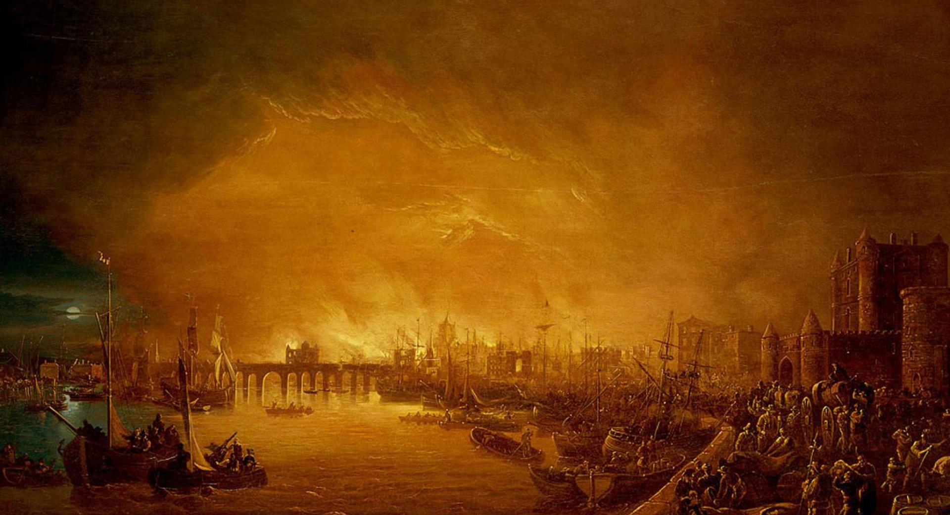 On september 2 1666 furnaces that werent quite out in the home of baker thomas farriner managed to start a fire that raged for four days and destroyed