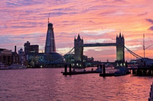 Beautiful Picture of a London Sunsest
