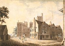 A View of the Archbishop's Palace, Lambeth' by Joseph Turner