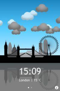 iPhone App: Fun London Weather App