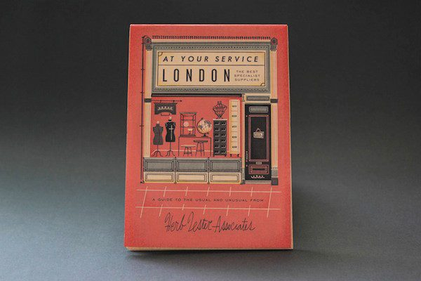 Beautiful New London Map from Herb Lester – At Your Service: London's best specialist suppliers