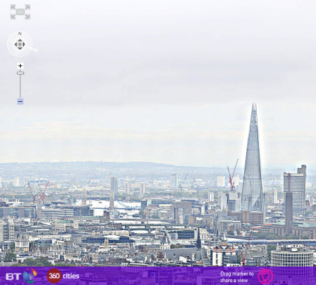 Check out this massive 320 Gigapixel Image of the London Skyline from BT