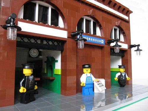 Fun London: Tube Stations Built from Legos
