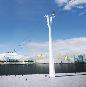 Cable Car Across the Thames Faces New Delays