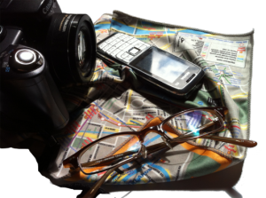 Cool London Travel Accessory: Map of London Glasses and Cleaning Cloth